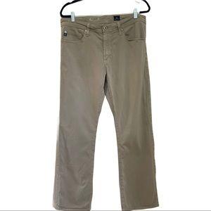 AG The Protege Straight Leg Tan Jeans 34 x 34